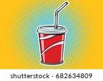 paper cup fast food beverage.... | Shutterstock .eps vector #682634809