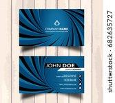 stylish blue business card...   Shutterstock .eps vector #682635727