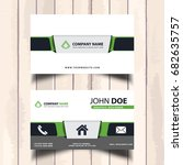 professional business card...   Shutterstock .eps vector #682635757