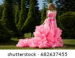 beautiful  refined young woman... | Shutterstock . vector #682637455