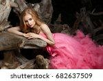 beautiful  charming young woman ... | Shutterstock . vector #682637509