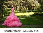 beautiful  magnificent girl... | Shutterstock . vector #682637515