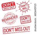 don't miss out and reminder... | Shutterstock .eps vector #682645915