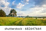Evening summer landscape with a ...