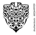 ethnic style tribal tattoo.... | Shutterstock .eps vector #682649959