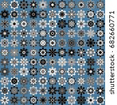 seamless geometric pattern with ... | Shutterstock .eps vector #682660771