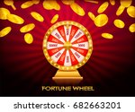 fortune wheel  game spin ... | Shutterstock .eps vector #682663201