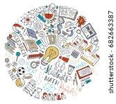 vector cartoon concept of... | Shutterstock .eps vector #682663387