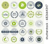 set of stickers and badges for... | Shutterstock .eps vector #682664347