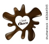 chocolate realistic splash blot ... | Shutterstock .eps vector #682664545