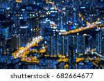 cityscape bokeh  abstract photo ... | Shutterstock . vector #682664677