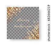shimmering golden shine with... | Shutterstock .eps vector #682666219