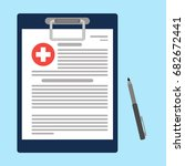 clipboard with medical cross... | Shutterstock .eps vector #682672441