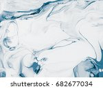 blue abstract hand painted... | Shutterstock . vector #682677034