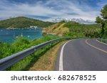 asphalt road and sea in phuket  ...   Shutterstock . vector #682678525