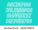 inclined circuit alphabet... | Shutterstock .eps vector #682678819