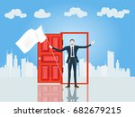 businessman in the city in... | Shutterstock .eps vector #682679215