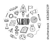 startup and business hand drawn ... | Shutterstock .eps vector #682680139