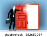 business man in the city in... | Shutterstock .eps vector #682681039