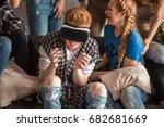 handsome guy is entertaining...   Shutterstock . vector #682681669
