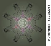 snowflake ornament snowflake... | Shutterstock . vector #682682065