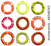 collage of  life buoy for... | Shutterstock . vector #68268265