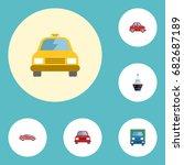 flat icons luxury auto ... | Shutterstock .eps vector #682687189