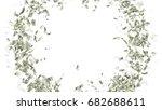 currency money dollar flying in ... | Shutterstock . vector #682688611