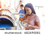 portrait of beautiful thai... | Shutterstock . vector #682690081