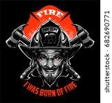 firefighter devil | Shutterstock .eps vector #682690771