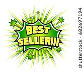 best seller  comic book... | Shutterstock .eps vector #682697194