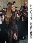 Small photo of PARIS, FRANCE - JULY 05: Bianca Brandolini d'Adda attends the Valentino Haute Couture Fall/Winter 2017-2018 show as part of Paris Fashion Week July 5, 2017 Paris, France