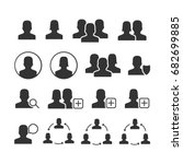 vector image of set of users...