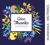 give thanks vector card for... | Shutterstock .eps vector #682700821