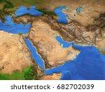 middle east map   gulf region.... | Shutterstock . vector #682702039