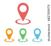 location icon vector | Shutterstock .eps vector #682705975