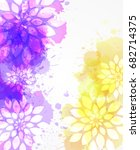 purple and yellow watercolored... | Shutterstock .eps vector #682714375