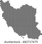 map of iran | Shutterstock .eps vector #682717675