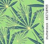 green tropic pattern. seamless... | Shutterstock .eps vector #682718905