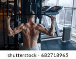shoulder pull down machine.... | Shutterstock . vector #682718965