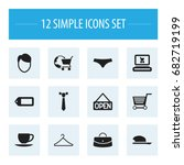 set of 12 editable shopping...