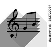 music violin clef sign. g clef... | Shutterstock .eps vector #682720039