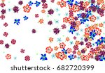 floral background for postcard  ... | Shutterstock .eps vector #682720399