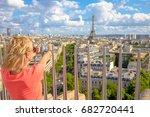 paris skyline aerial view.... | Shutterstock . vector #682720441