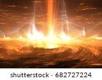 Sun Plasma Flares. Solar Storm...