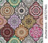 patchwork pattern. vintage...   Shutterstock .eps vector #682727461