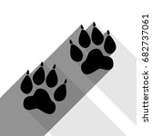 Animal Tracks Sign. Vector....