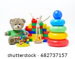 colorful educational toys for... | Shutterstock . vector #682737157