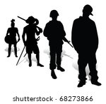 the soldier  the musketeer they ... | Shutterstock . vector #68273866