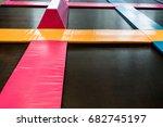 interconnected trampolines for... | Shutterstock . vector #682745197